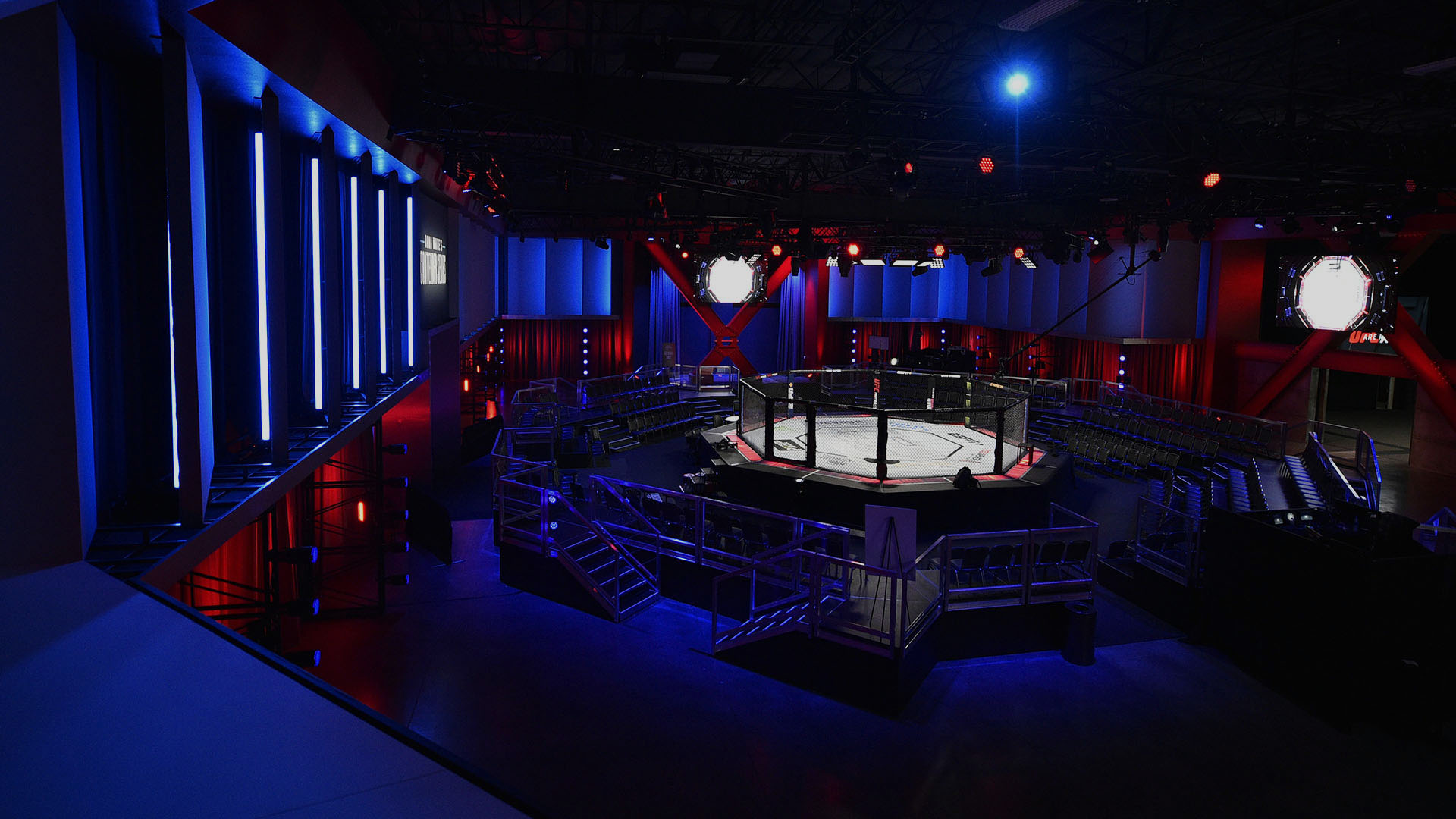 A general view of the Octagon during Dana White's Contender Series season three week nine at the UFC Apex on August 20, 2019 in Las Vegas, Nevada. (Photo by Chris Unger/DWCS LLC/Zuffa LLC)