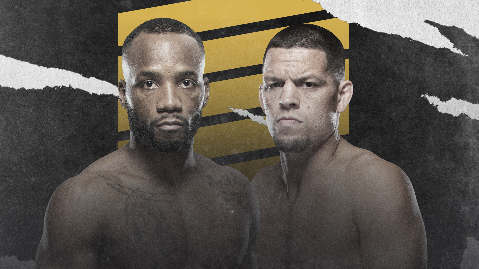Bout Announcement for Leon Edwards and Nate Diaz as co-main event at UFC 262