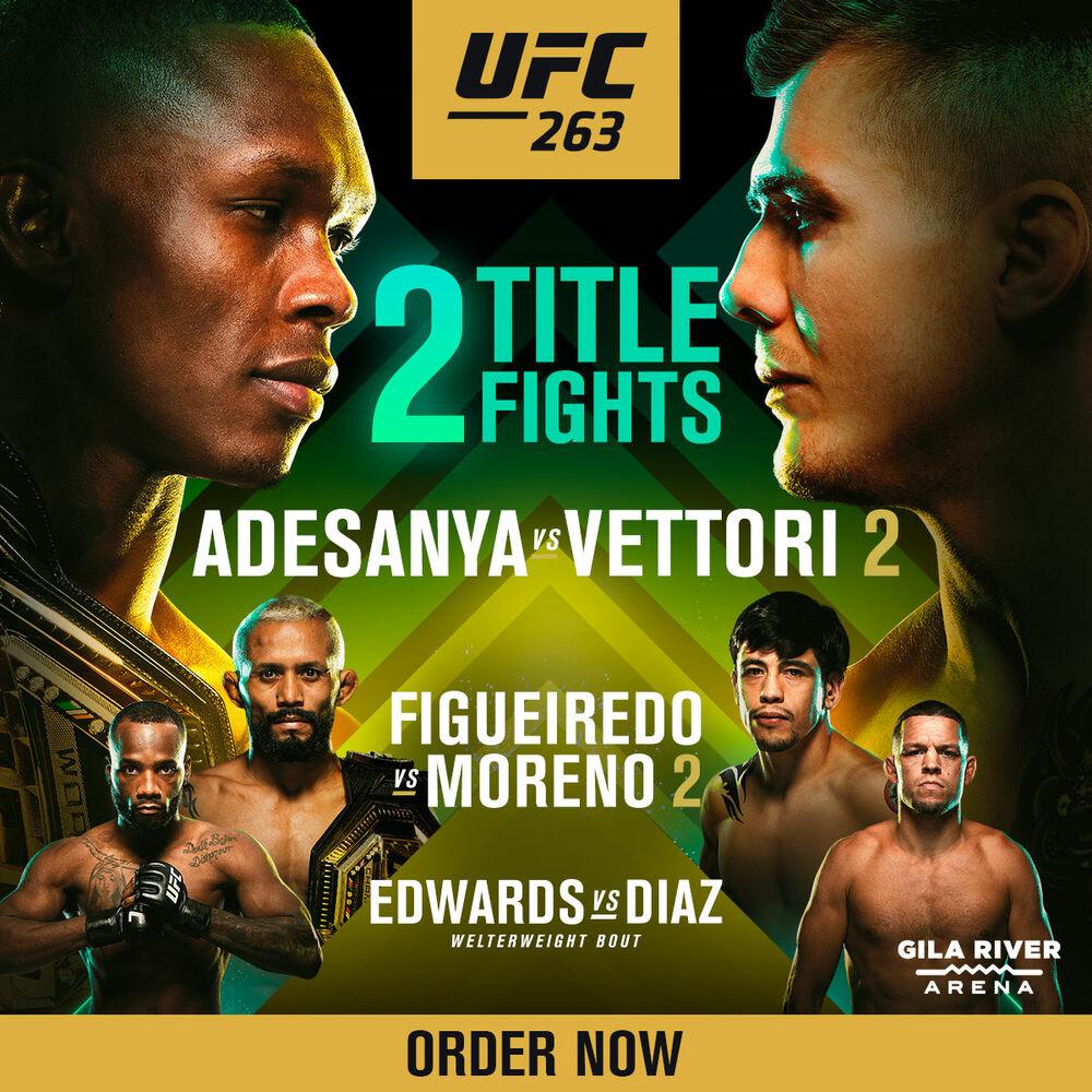 Order Now! UFC 263: Adesanya vs Vettori 2