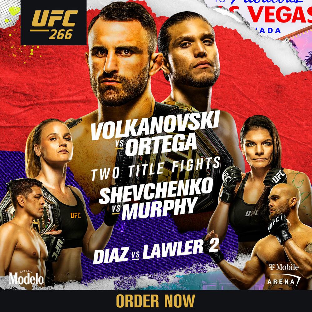 Order Now! UFC 266: Volkanovski vs Ortega