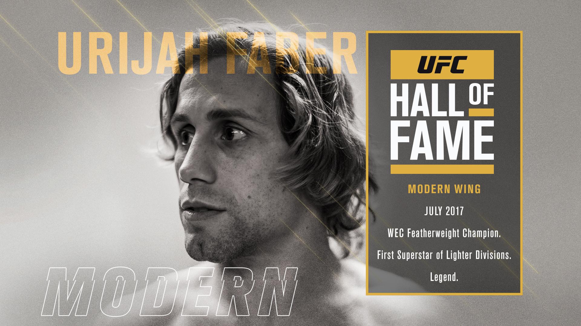 2017 UFC Hall of Fame class Urijah Faber Modern Wing