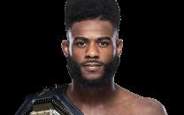 UFC bantamweight champion Aljamain Sterling profile image with belt