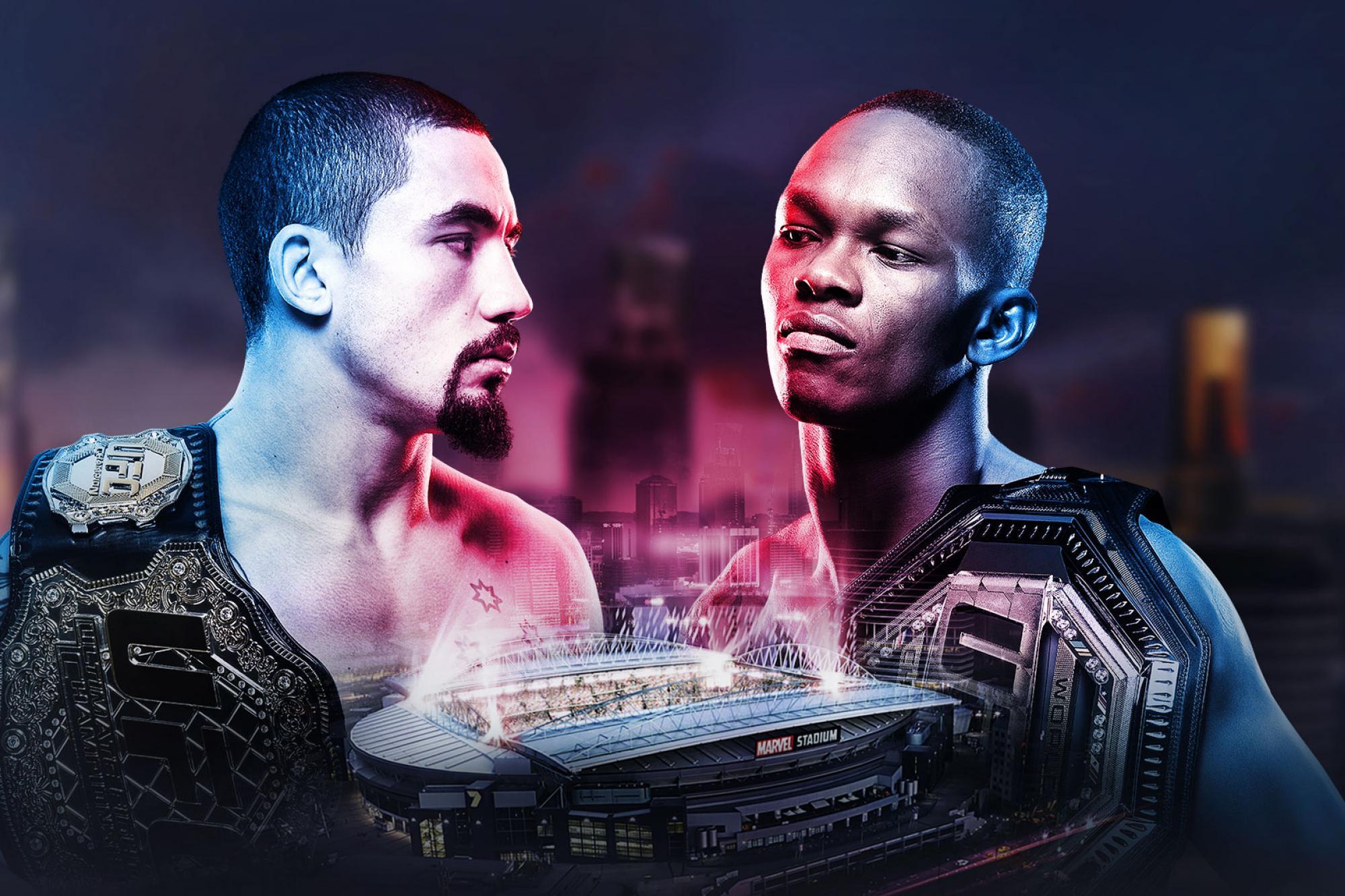 X198 UFC 243 Whittaker VS Adesanya MMA Fight New Event Fabric Poster 24x36 27x40