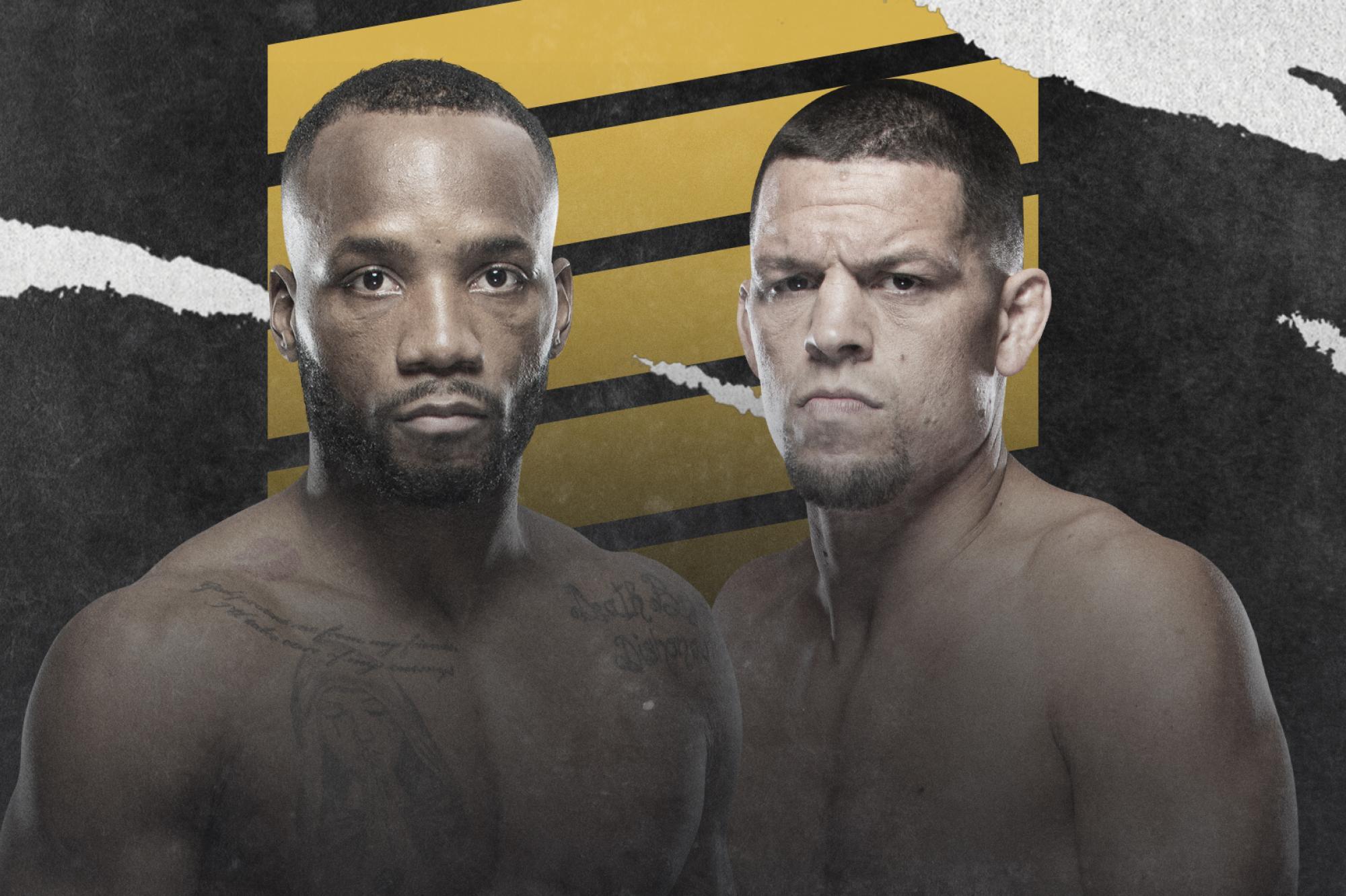 Leon Edwards Vs. Nate Diaz Moved To UFC 263: Adesanya Vs. Vettori 2   UFC