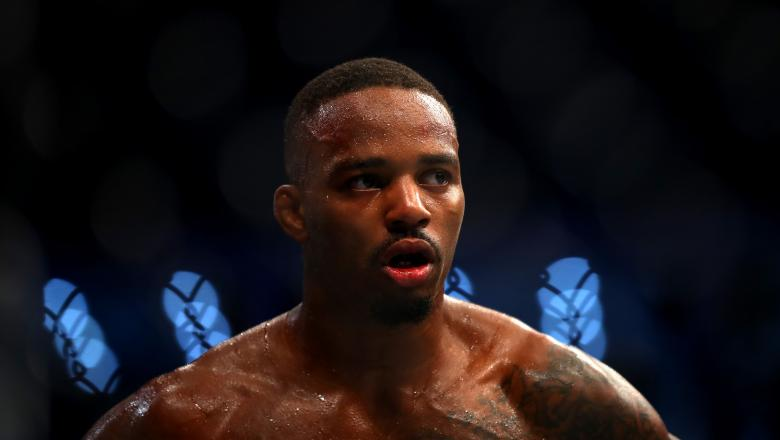 Lerone Murphy of United Kingdom looks on during his Featherweight Boutd during the UFC 242 event at The Arena on September 07, 2019 in Abu Dhabi, United Arab Emirates. (Photo by Francois Nel/Getty Images)