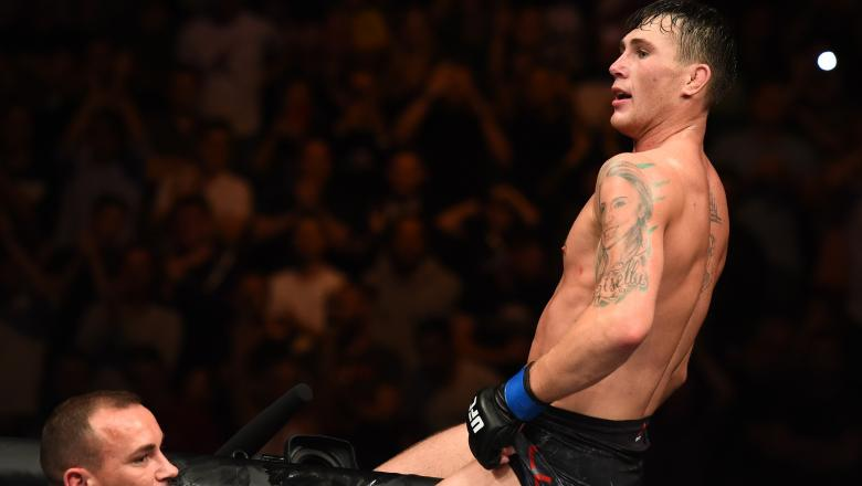Darren Till celebrates his UFC Liverpool victory.