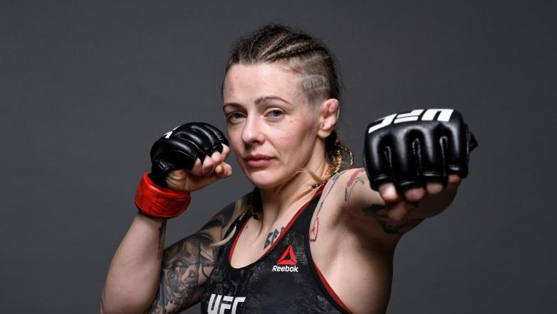 NEW YORK, NY - JANUARY 19: Joanne Calderwood of Scotland poses for a portrait backstage during the UFC Fight Night event at the Barclays Center on January 19, 2019 in the Brooklyn borough of New York City. (Photo by Mike Roach/Zuffa LLC/Zuffa LLC via Getty Images)