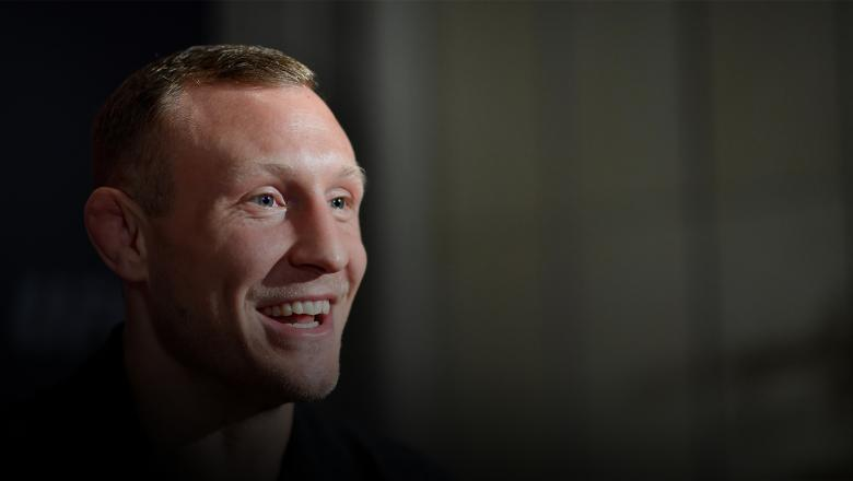 COPENHAGEN, DENMARK - SEPTEMBER 26: Jack Hermansson of Sweden interacts with media during the UFC Fight Night Ultimate Media Day at the Radisson Blu Scandinavia Hotel on September 26, 2019 in Copenhagen, Denmark. (Photo by Jeff Bottari/Zuffa LLC/Zuffa LLC via Getty Images)