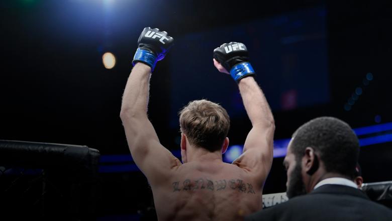 Nate Landwehr poses at UFC Fight Night Raleigh