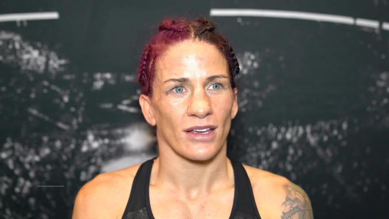 Gina Mazany talks to the UFC.COM team backstage at UFC Vegas 15