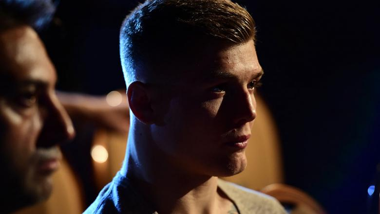 Marvin Vettori of Italy waits backstage during the UFC 202 weigh-in at the MGM Grand Marquee Ballroom on August 19, 2016 in Las Vegas, Nevada.