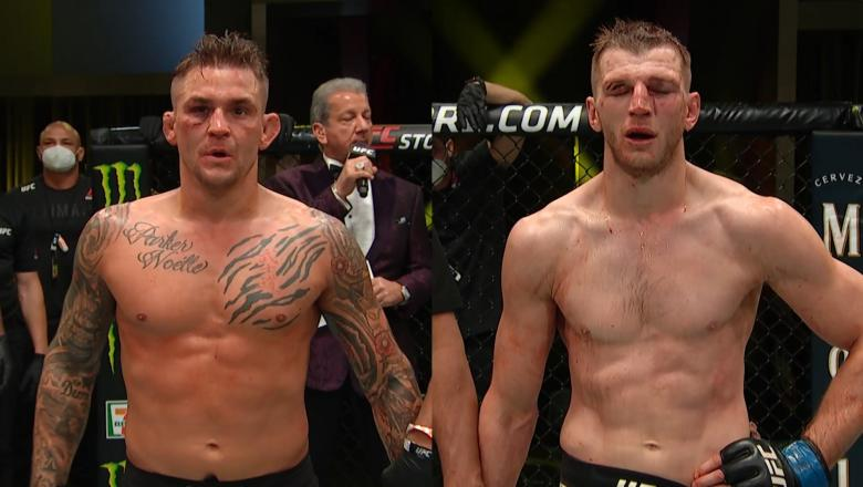 Dustin Poirier & Dan Hooker Win Fight Of The Night 2020