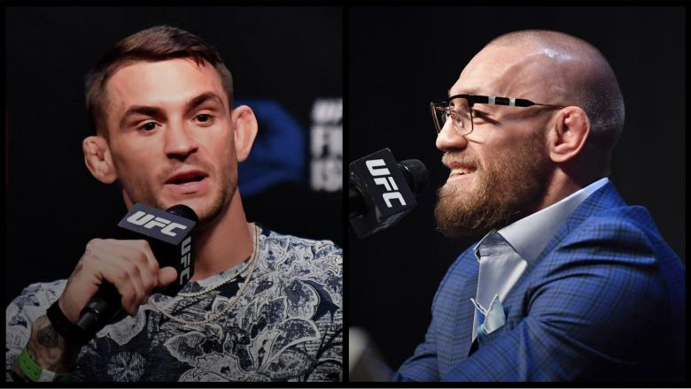 UFC 257 Press Conference Dustin Poirier and Conor McGregor