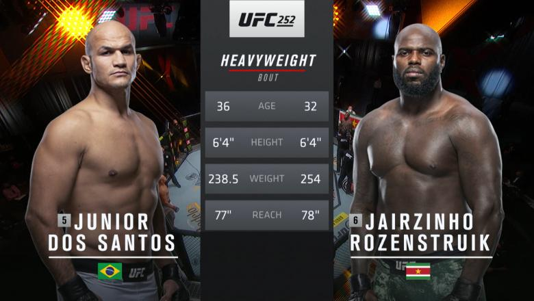 Tale Of The Tape Junior Dos Santos Vs Jairzinho Rozenstruik