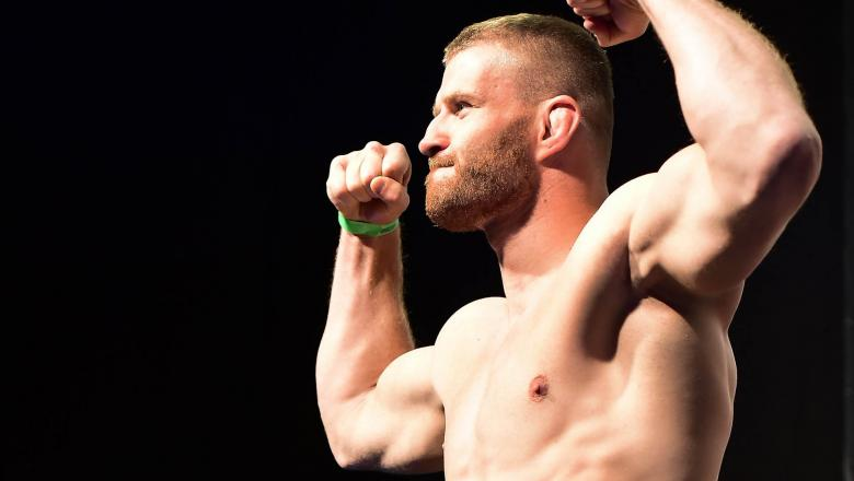 Jan Blachowicz of Poland steps onto the scale during the UFC Fight Night Weigh-in held at Barclaycard Arena on September 2, 2016 in Hamburg, Germany.(Photo by Mike Roach/Zuffa LLC)