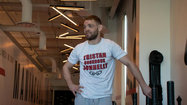 Tristan Connelly prepares for his welterweight bout against Patrick Sabatini at UFC 261: Usman vs Masvidal 2 at the UFC Performance Institute in Las Vegas on April 14, 2021. (Photo by McKenzie Pavacich/Zuffa LLC)