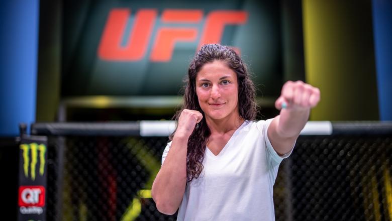 Lupita Godinez at the UFC Apex, April 2021 (Photo by Nolan Walker/Zuffa LLC)