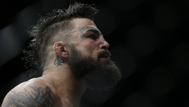 Mike Perry looks on during his welterweight bout against Alex Oliveira of Brazil at UFC Fight Night at BB&T Center on April 27, 2019 in Sunrise, Florida. (Photo by Michael Reaves/Getty Images)