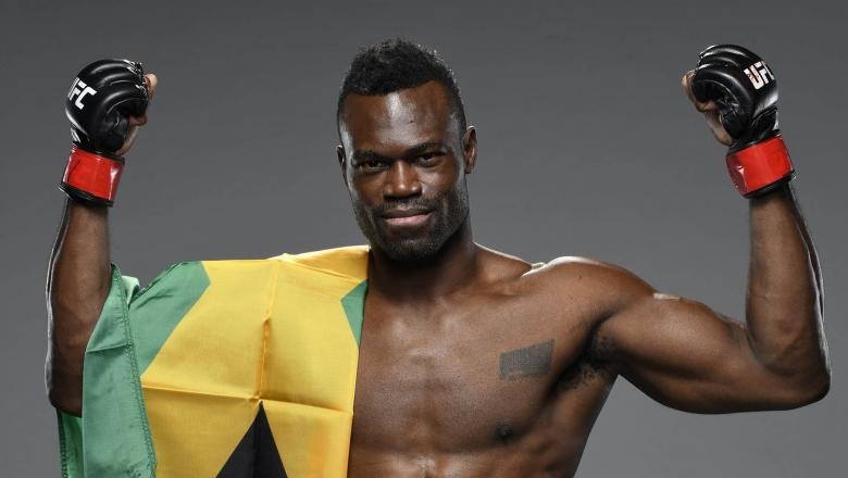 Uriah Hall of Jamaica poses for a portrait after his victory during the UFC Fight Night event at UFC APEX on October 31, 2020 in Las Vegas, Nevada. (Photo by Mike Roach/Zuffa LLC)