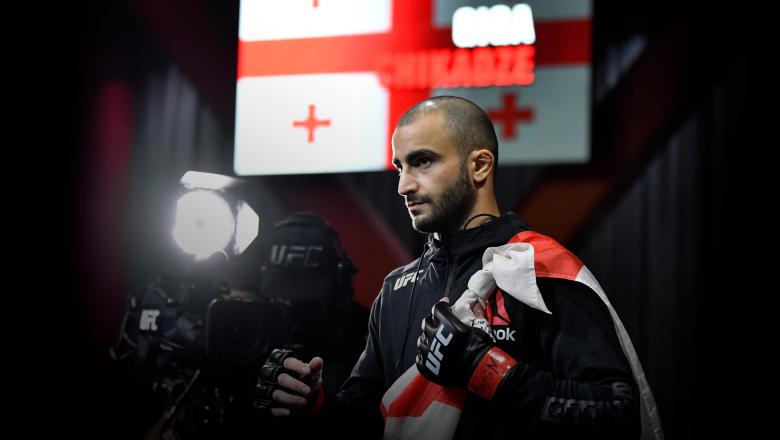 Giga Chikadze of Georgia prepares to fight Jamey Simmons in a featherweight fight during the UFC Fight Night event at UFC APEX on November 07, 2020 in Las Vegas, Nevada. (Photo by Jeff Bottari/Zuffa LLC)