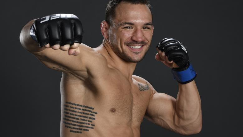 Michael Chandler poses for a portrait after his victory during the UFC 257 event inside Etihad Arena on UFC Fight Island on January 23, 2021 in Abu Dhabi, United Arab Emirates. (Photo by Mike Roach/Zuffa LLC)