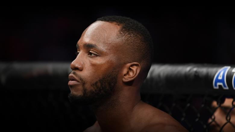 Leon Edwards of Jamaica stands in his corner prior to facing Rafael Dos Anjos in their welterweight bout during the UFC Fight Night event at AT&T Center on July 20, 2019 in San Antonio, Texas. (Photo by Josh Hedges/Zuffa LLC)