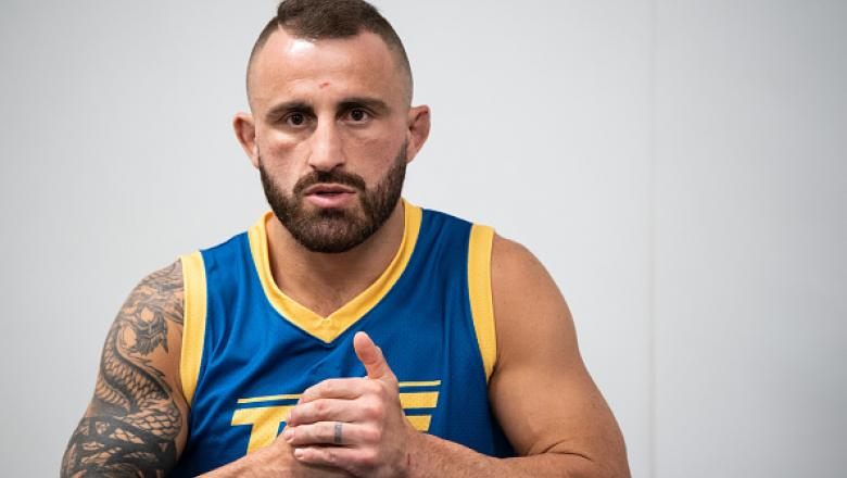 Coach Alexander Volkanovski looks on during the filming of the The Return of The Ultimate Fighter at UFC APEX on April 29 2021 in Las Vegas Nevada. (Photo by Chris Unger/Zuffa LLC)