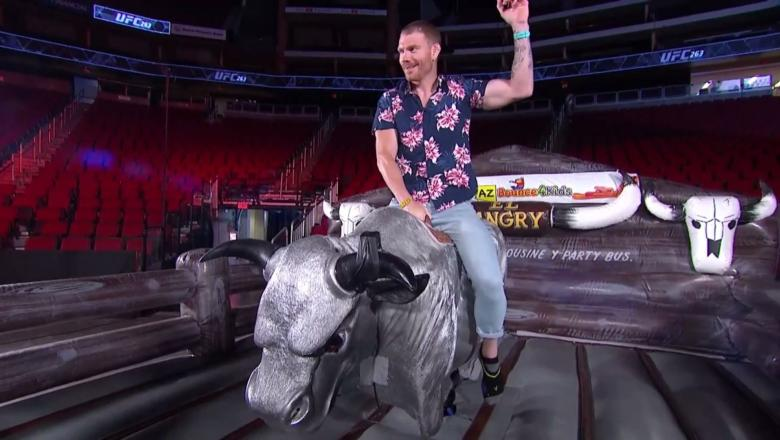 WatchMechanical Bull Riding | UFC 263 Weigh-in Show