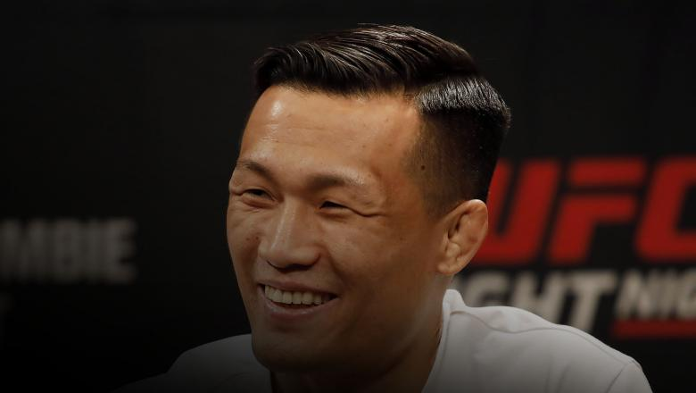 Chan Sung Jung also known as the korean Zombie attends the press conference of the mixed martial arts event produced by the Ultimate Fighting Championship that is planned to take place in December in Busan, Korea at Grand Hilton Seoul Hotel on October 17, 2019 in Seoul, South Korea. (Photo by Woohae Cho/Zuffa LLC)