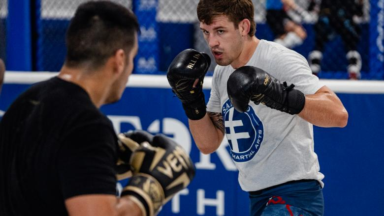 Brendan Allen trains at Sanford MMA in Deerfield Beach, Florida on July 1, 2021. (Photo by Zac Pacleb)