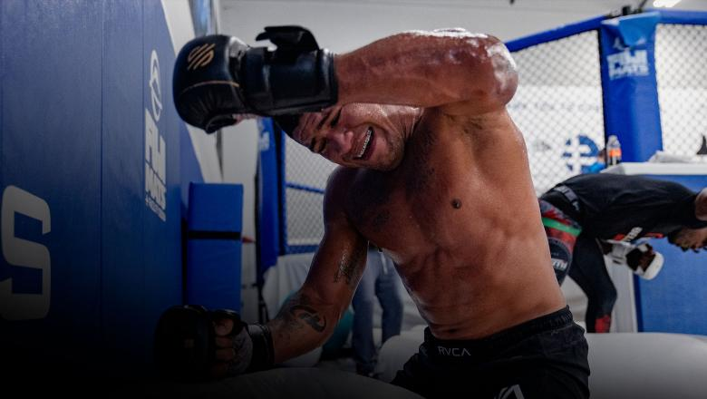 Gilbert Burns trains at Sanford MMA in Deerfield Beach, Florida, on June 30, 2021. (Photo by Zac Pacleb)