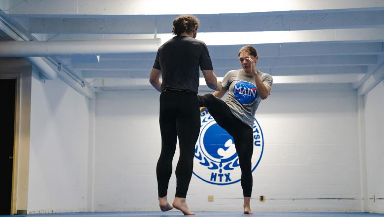 Lauren Murphy trains at Main Street Boxing and Muay Thai in Houston, Texas on August 3, 2021. (Photo by Maddyn Johnstone-Thomas)