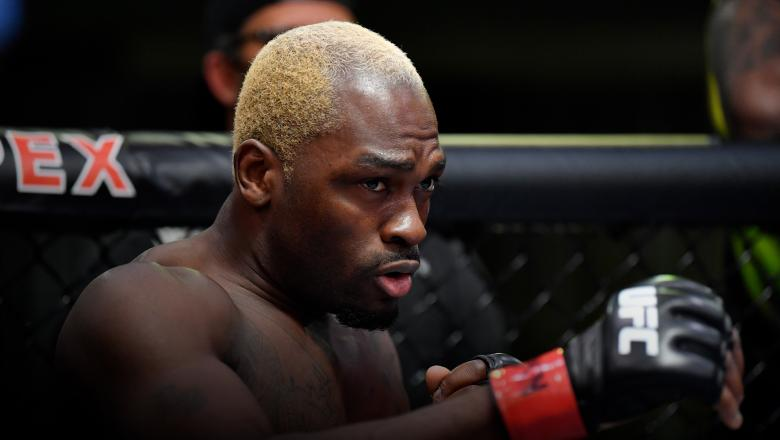 Derek Brunson prepares to fight Kevin Holland in their middleweight fight during the UFC Fight Night event at UFC APEX on March 20, 2021 in Las Vegas, Nevada. (Photo by Chris Unger/Zuffa LLC)