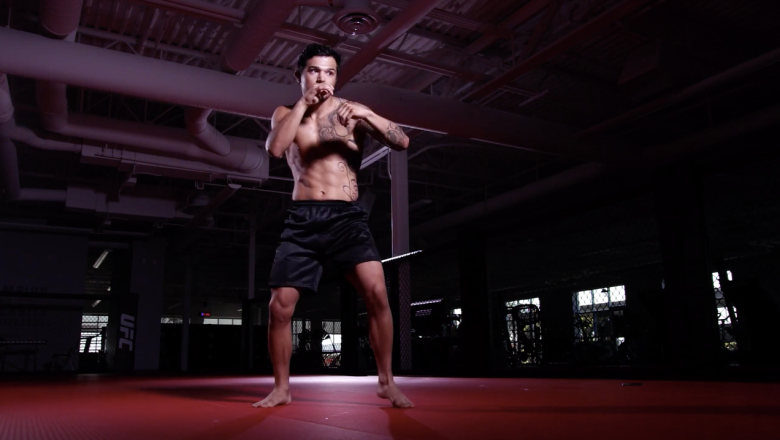 Reyes Cortez trains ahead of his Dana White's Contender Series bout on Season 5 Episode 7