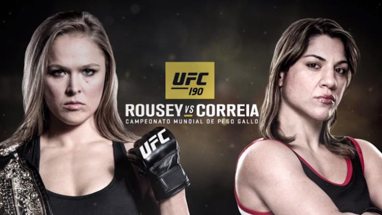 UFC 190 Ronda Rousey vs Bethe Correia