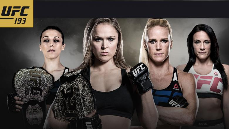 UFC 193 image with Rousey, Holm, Letourneau, and Jedrzejczyk
