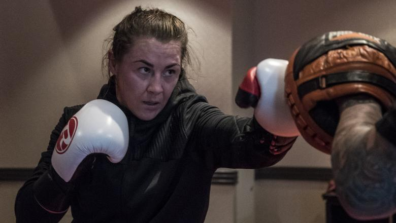 25 Molly McCann training at the host hotel during UFC Boston fight week