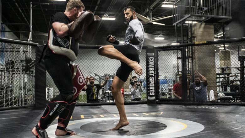 26 - Dominick Reyes late workout during UFC 247 Fight Week