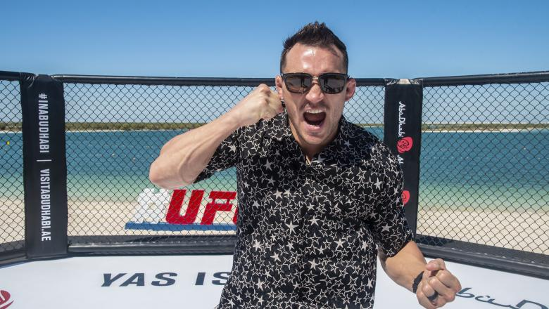 Michael Chandler at Yas Beach during UFC 254 fight week