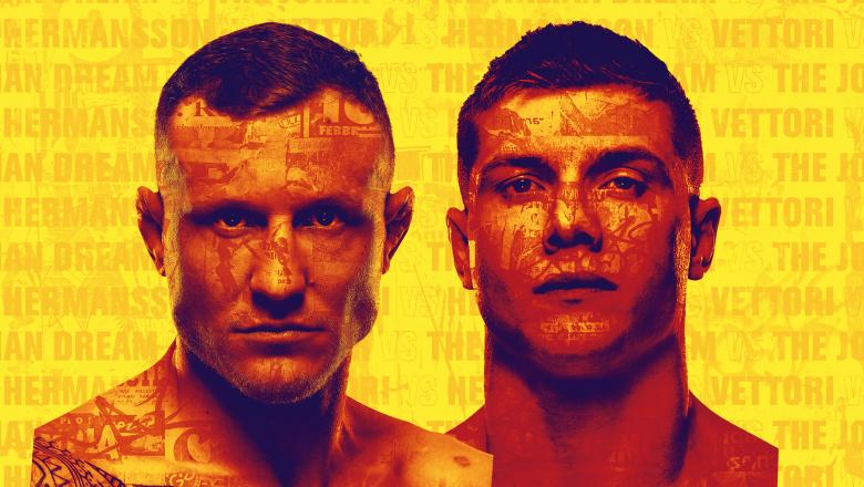 Jack Hermansson and Marvin Vettori face off at UFC Fight Night:Hermansson vs Vettori December 5 from the UFC Apex