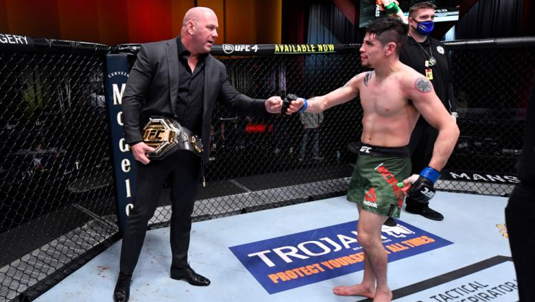 Dana White and Brandon Moreno UFC 256