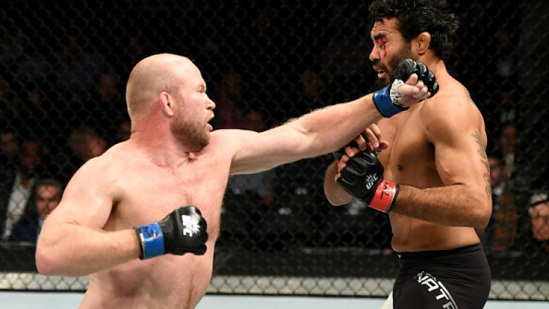 NEW YORK, NY - NOVEMBER 12:  Tim Boetsch of the United States (left) fights against Rafael Natal of Brazil in their middleweight bout during the UFC 205 event at Madison Square Garden on November 12, 2016 in New York City.  (Photo by Jeff Bottari/Zuffa LL