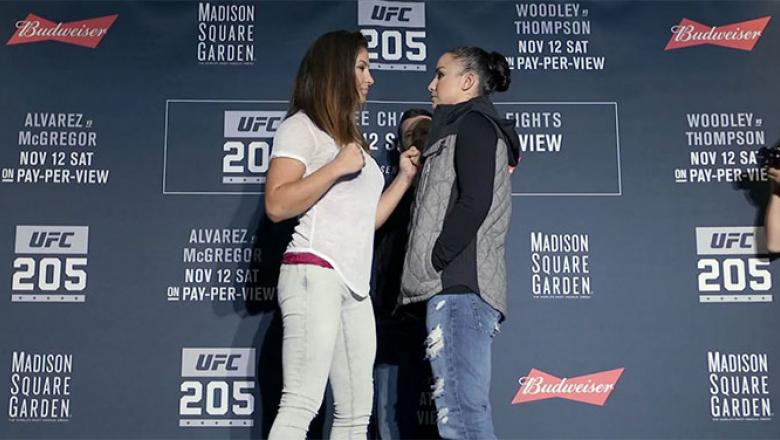 UFC 205 Miesha Tate vs Raquel Pennington faceoff