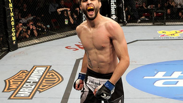 LONDON, ENGLAND - OCTOBER 16:  Carlos Condit of United States defeats Dan Hardy of Great Britain by knock out during their UFC welterweight bout at the O2 Arena on October 16, 2010 in London, England.  (Photo by Josh Hedges/Zuffa LLC/Zuffa LLC via Getty I