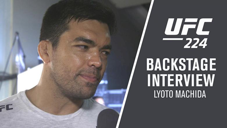 Lyoto Machida backstage after defeating Vitor Belfort at UFC 224