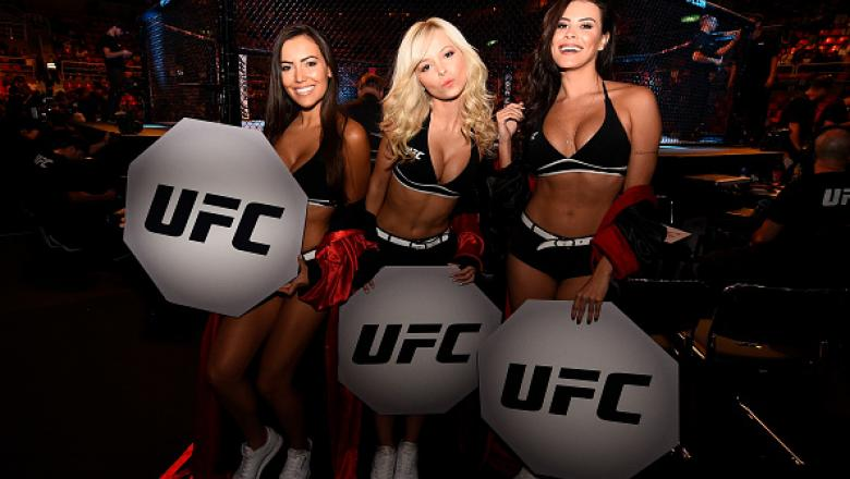 UFC Star Pays Tribute The Lineup Of Blonde Octagon Girls