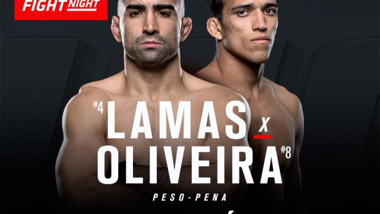 Charles Oliveira e Ricardo Lamas se enfrentam no UFC México, em novembro