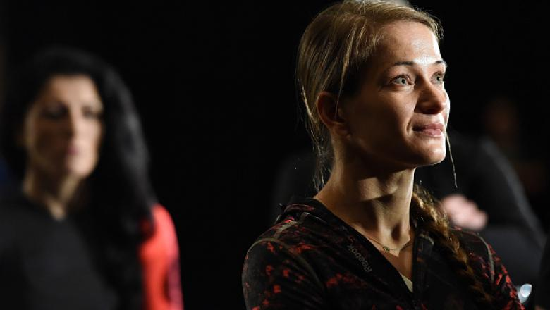 ORLANDO, FL - DECEMBER 18:  Karolina Kowalkiewicz of Poland waits backstage during the UFC weigh-in inside the Orange County Convention Center on December 18, 2015 in Orlando, Florida.  (Photo by Mike Roach/Zuffa LLC/Zuffa LLC via Getty Images)