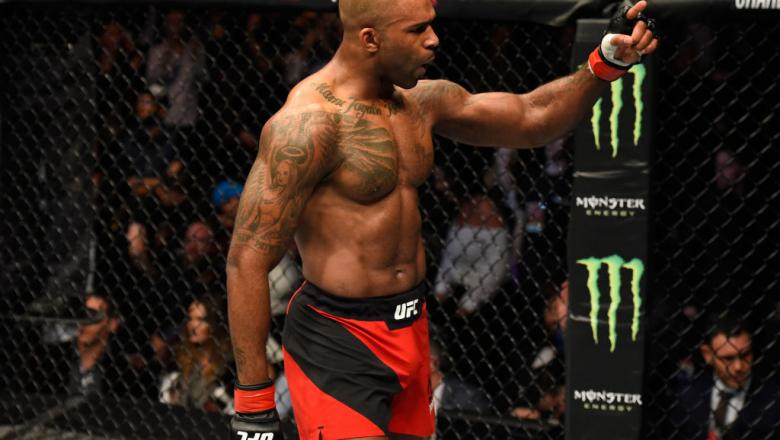 LONDON, ENGLAND - MARCH 18:  Jimi Manuwa of England celebrates his knockout victory over Corey Anderson in their light heavyweight fight during the UFC Fight Night event at The O2 arena on March 18, 2017 in London, England. (Photo by Josh Hedges/Zuffa LLC