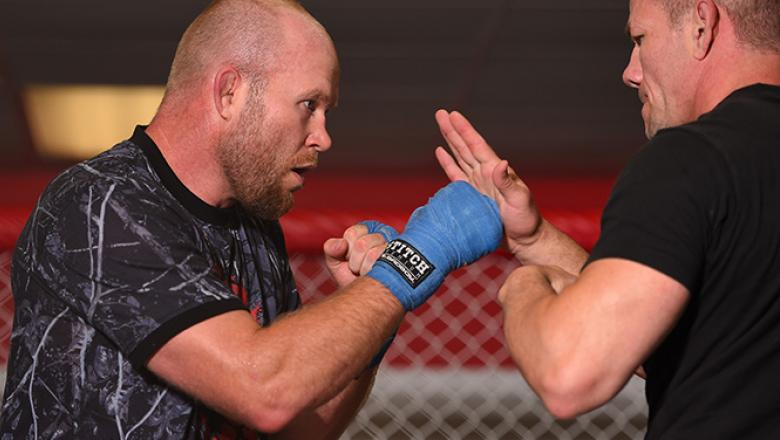 JEFFERSON, LA - JUNE 06:   Tim Boetsch holds an open training session for fans and media at the UFC Gym on June 6, 2015 in Jefferson, Louisiana. (Photo by Josh Hedges/Zuffa LLC/Zuffa LLC via Getty Images)